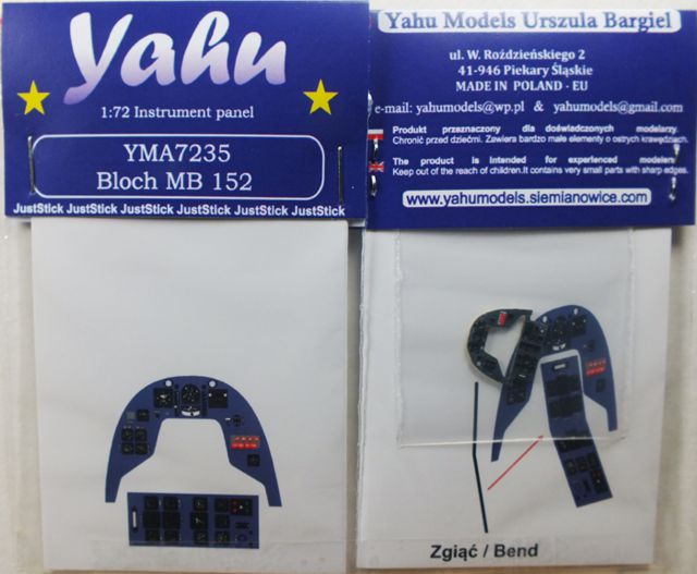 Yahu Models 1/72 Bloch MB.152 RS Models # 7235