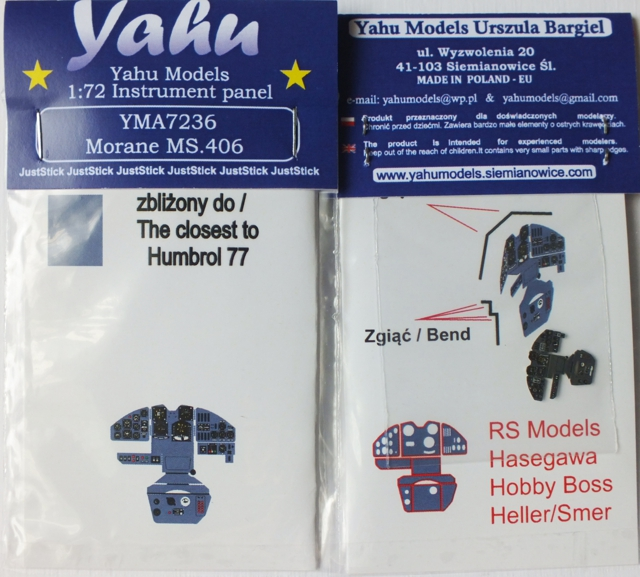 Yahu Models 1/72 MS.406 # 7236