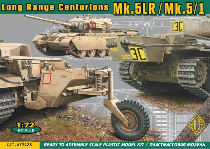 ACE 1/72 Long Range Centurions Mk.5LR/Mk.5/1 with external fuel tanks # 72428