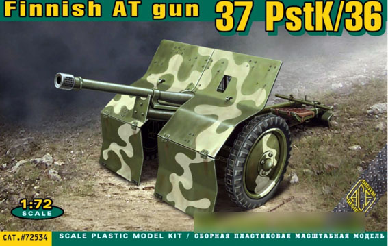 ACE 1/72 Finnish AT gun 37 PstK/36 # 72534