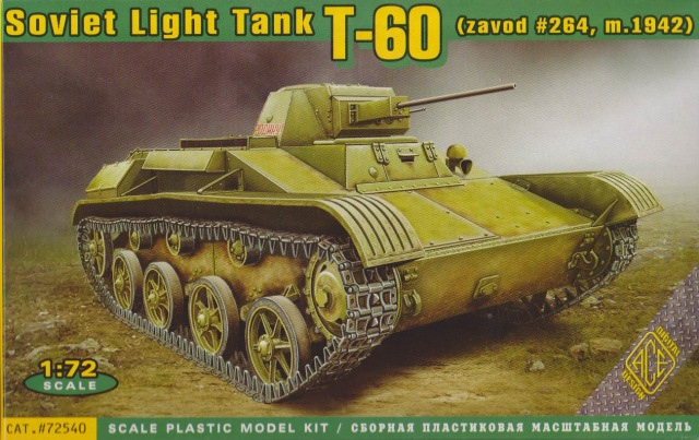 ACE 1/72 Soviet Light Tank T-60 (zavod #264, m.1942) # 72540