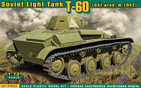 Ace 1/72 Russian T-60 light tank (GAZ prod., m.1942) # 72541