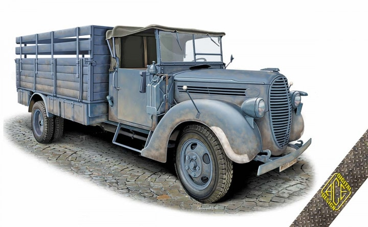 ACE 1/72 G917T 3t German Cargo Truck (soft cab) # 72575