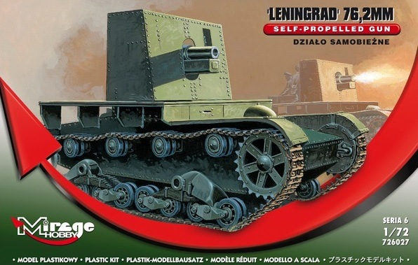 "Mirage Hobby 1/72 76,2mm ""LENINGRAD"" Self-Propelled gun # 726027"