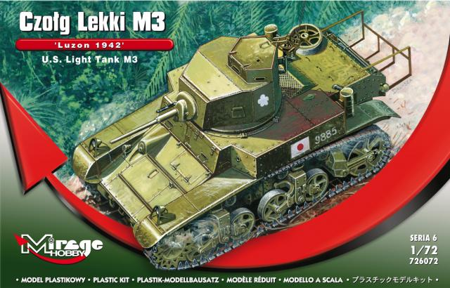 Mirage Hobby 1/72 U.S. Light Tank M3 'LUZON 1942' # 726072