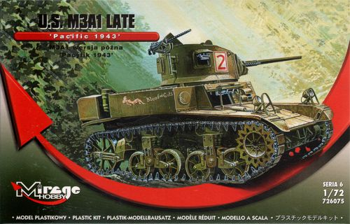 Mirage Hobby 1/72 U.S. M3A1 Late 'Pacific 1943' # 726075