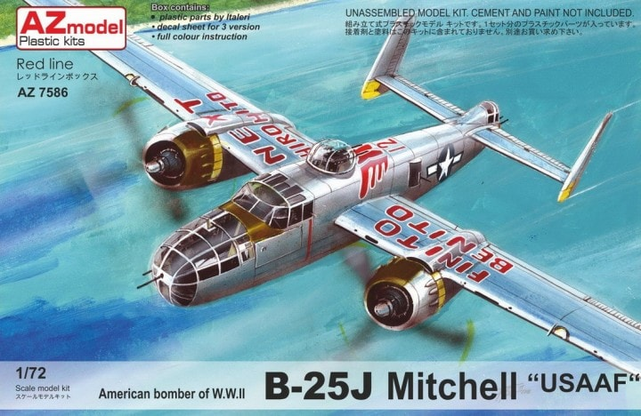 "AZ-Model 1/72 North-American B-25J Mitchell ""USAAF"" # 7586"