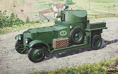 РОДЕН 1/72 WWII British Armoured Car (Pattern 1920 Mk.I) # 731