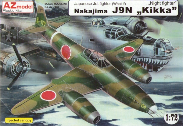AZ-Model 1/72 Nakajima J9N Kikka ,, Night Fighter'' # 7388