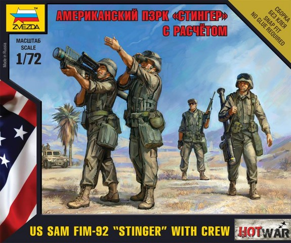 "Zvezda 1/72 US SAM FIM-92 ""Stinger"" with Crew # 7416"
