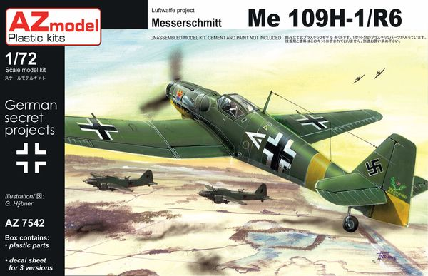 AZ-Model 1/72 Messerschmitt Bf 109H-1/R6 # 7542