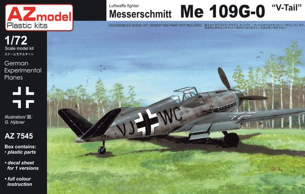 "AZ-Model 1/72 Messerschmitt Bf 109G-0 ""V tail"" # 7545"