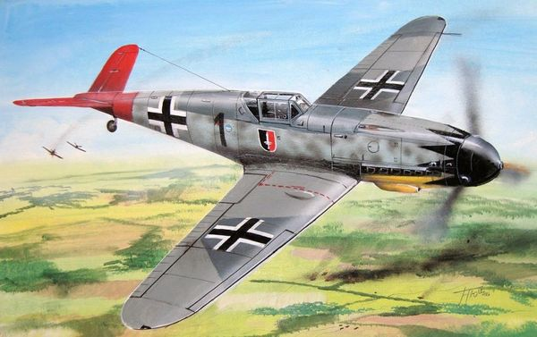 "AZ-Model 1/72 Messerschmitt Bf 109G-0 ""Aces"" # 7547"