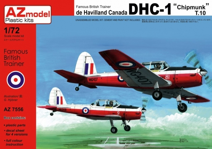 AZ-Model 1/72 DHC-1 Chipmunk T.10 RAF # 7556