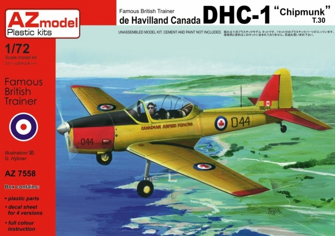AZ-Model 1/72 DHC-1 Chipmunk T.30 (Kanada, Liban) # 7558