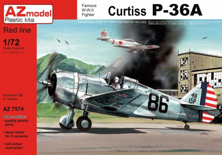 AZ-Model 1/72 Curtiss P-36A # 7574