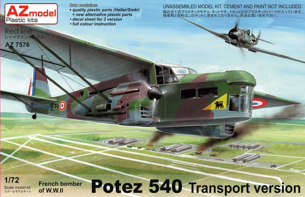 AZ-Model 1/72 Potez P-540T Transport # 7576