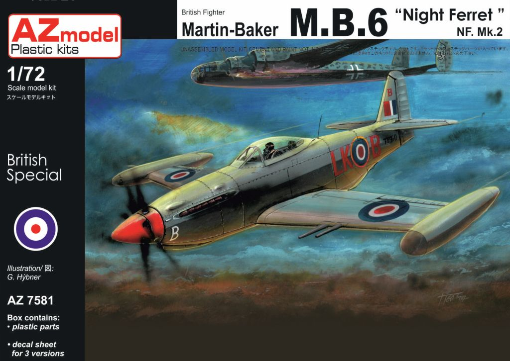 AZ-Model 1/72 Martin Baker MB.6 NF.Mk.II Night Ferret # 7581