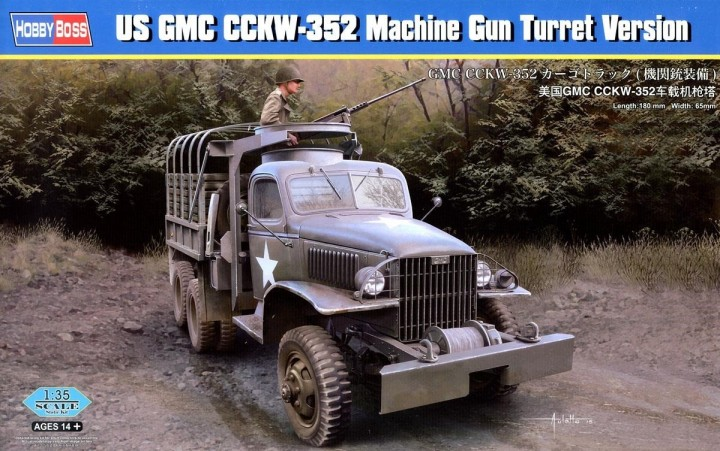 HobbyBoss 1/35 US GMC CCKW-352 Machine Gun Turret Version # 83833
