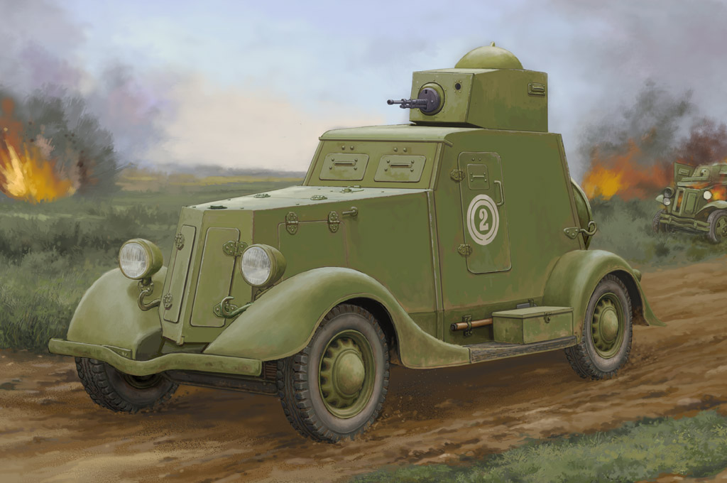 Soviet BA-20 Armored Car Mod.1939 # 1/35 Hobby Boss # 83883