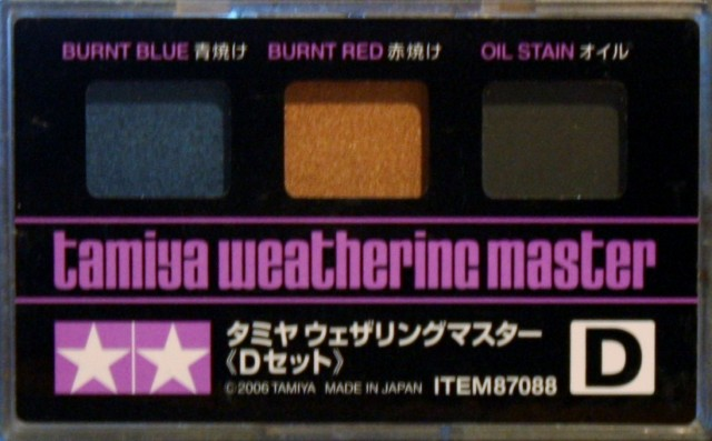 Tamiya Weathering Master Set D Burnt Blue, Burnt Red & Oil Stain # 87088