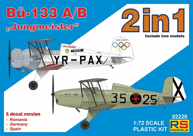 "RS Models 1/72 Bucker 133 A/B ""Jungmeister""/2in1/ # 92220"