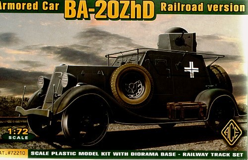 ACE 1/72 BA-20M ZhD Armored Car ( Railroad version ) # ACE72210