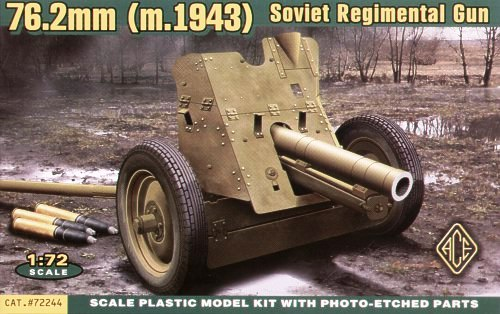 ACE 1/72 Soviet 76mm Regimental Gun Mod.1943 # ACE72244