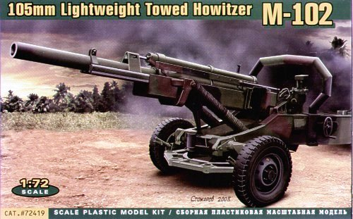 ACE 1/72 M-102 United States Army 105mm Lightweight Towed Howitzer # ACE72419