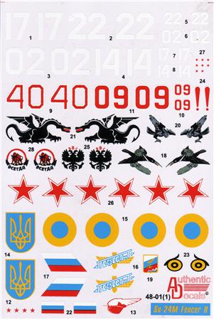Authentic Decals 1/48 Su-24M Fencer D # 48-01