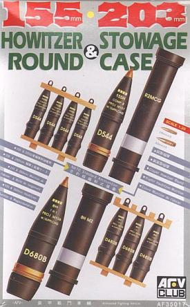 AFV Club 1/35 155mm and 203mm Howitzer Round and Stowage Case # 35017
