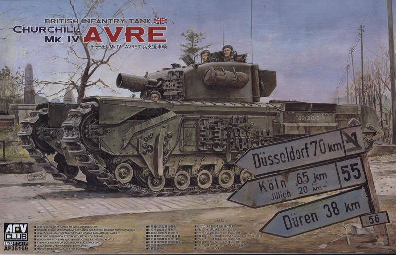 AFV Club 1/35 British Infantry Tank Churchill MK IV AVRE # 35169