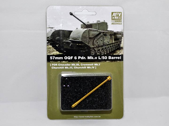 AFV Club 1/35  57mm OQF 6 Pdr. Mk.V L/50 Barrel # AG35022