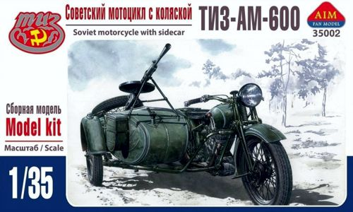 Aim Fan Model 1/35 TIZ-AM-600 Soviet motorcycle with sidecar # 35002