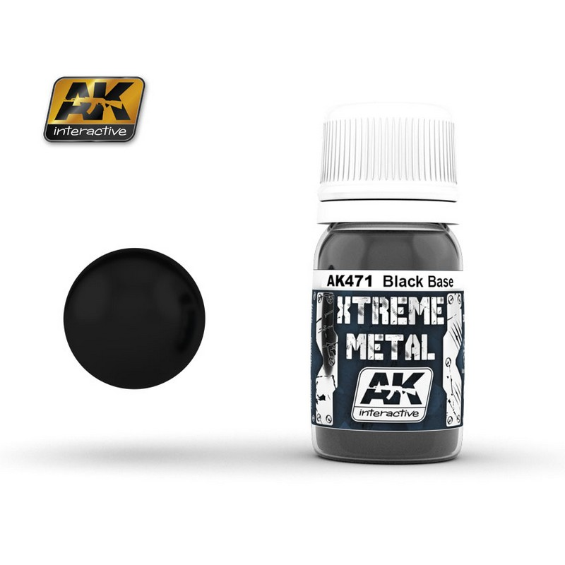 AK Interactiv XTREME METAL BLACK BASE # 471
