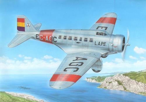 "Azur 1/72 Delta US Passenger and Transport Plane ""Over Spain"" # FR033"