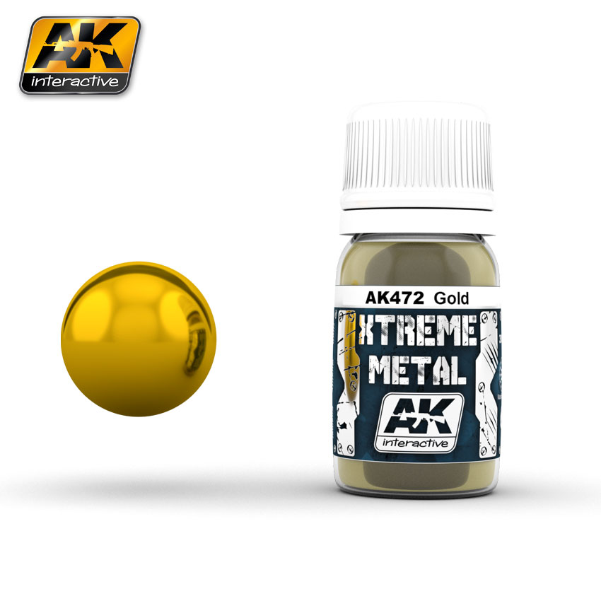 AK Interactiv XTREME METAL GOLD 30ML # 472