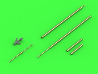 Master-model 1/48 Su-7 (Fitter-A) - Pitot Tubes and 30mm gun barrels # AM-48-119
