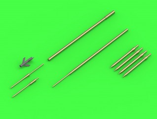 Master-model 1/48 Su-9 / Su-11 (Fishpot / Fishpot C) - Pitot Tubes and missile rails heads # AM-48-120