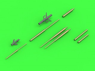 Master-model 1/48 Su-17, Su-20, Su-22 (Fitter) - Pitot Tubes (optional parts for all versions) and 30mm gun barrels # AM-48-122