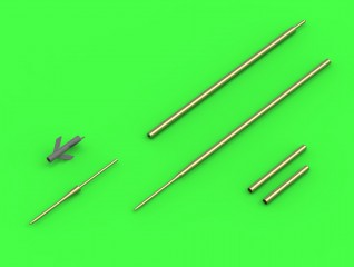 Master Model 1/72 Su-7 (Fitter-A) - Pitot Tubes and 30mm gun barrels # 72-103