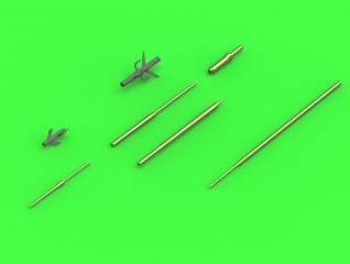 Master Model 1/72 Su-15 (Flagon) - Pitot Tubes (optional parts for all versions) # AM-72-105