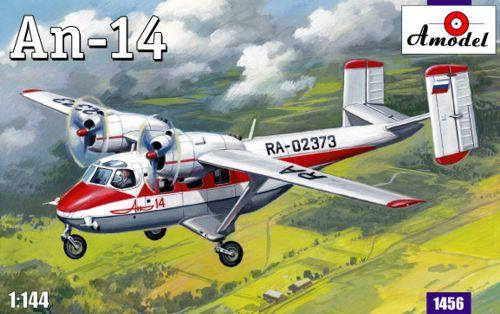 "Amodel 1/144 Antonov An-14 Pchelka (""Little Bee"") (NATO reporting name Clod) twin-engined light STOL utility transport # 1456"