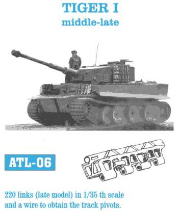 Friulmodel 1/35 TIGER I middle-late # ATL-06
