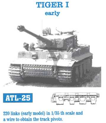 Friulmodel 1/35  TIGER I early # ATL-25