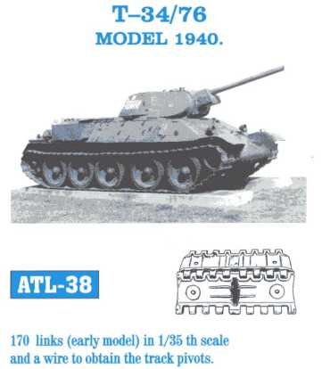 Friulmodel 1/35 T-34/76 MODEL 1940 # ATL-38