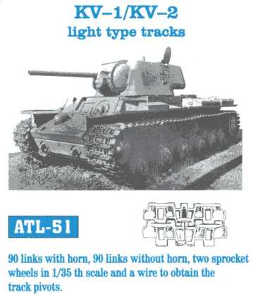 Friulmodel 1/35   KV-1 / KV-2 light type tracks # ATL-51