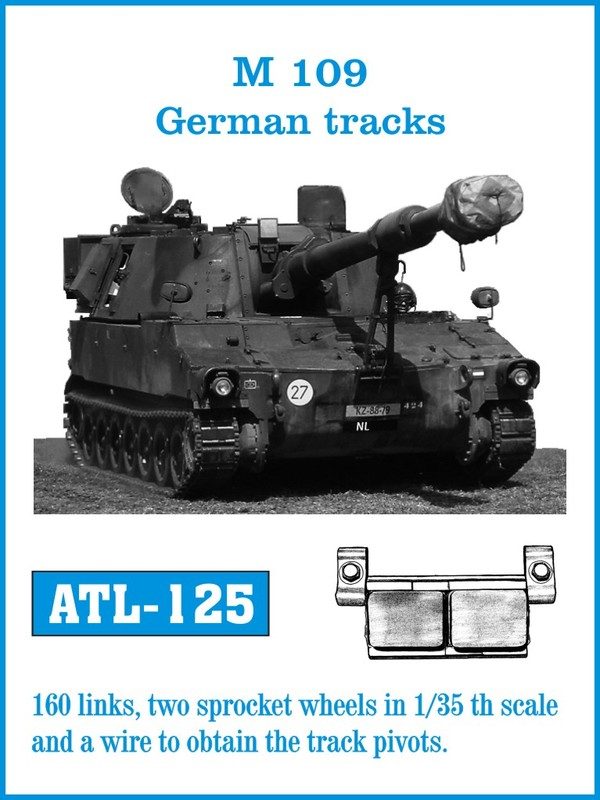 Friulmodel 1/35 M-109 German tracks # ATL 125