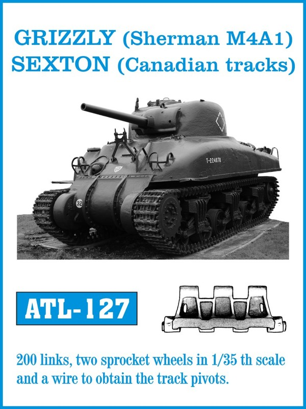 Friulmodel 1/35 GRIZZLY (Sherman M4A1), SEXTON (Canadian tracks) # ATL 127