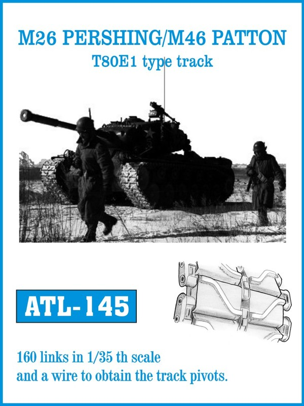 Friulmodel 1/35  M26 PERSHING / M46 PATTON T80E1 type track # 145